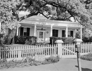 Primary view of object titled '[Hale-Houston House, (West elevation)]'.
