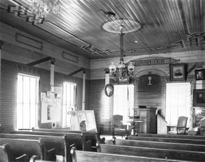 Primary view of object titled '[Wesley Brethren Church, (Interior oblique)]'.