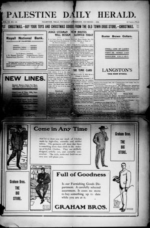 Primary view of Palestine Daily Herald (Palestine, Tex), Vol. 3, No. 126, Ed. 1, Thursday, December 1, 1904