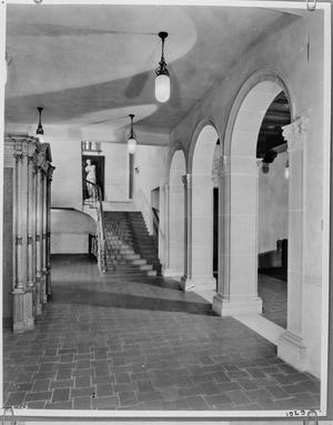 Primary view of object titled '[Julia Ideson Building, (Main Corridge)]'.