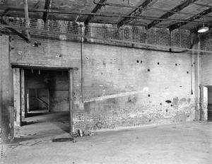 Primary view of object titled '[Foundry Building (Continental Gin Complex), (Room 106 - East wall with opening to room 107)]'.