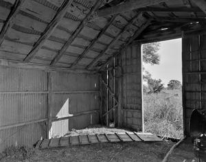 Primary view of object titled '[Residence, (Barn Interior)]'.
