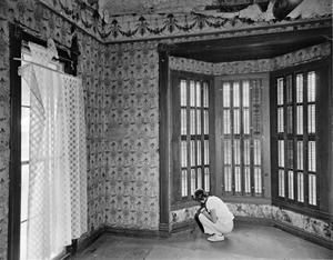 Primary view of object titled '[Ernst Gruene House, (Interior, Bay window)]'.