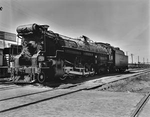 Primary view of object titled '[Texas and Pacific Locomotive]'.