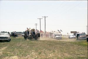 Primary view of object titled '[Texas Sesquicentennial Wagon Train]'.
