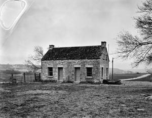 Primary view of object titled '[First Post Office-Stage Stop in Copperas Cove, (Southwest oblique)]'.