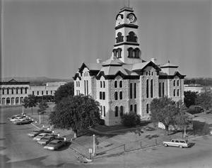 Primary view of object titled '[Hood County Courthouse, (Southeast oblique)]'.