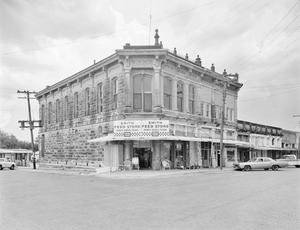 Primary view of object titled '[Smith Feed Store, (Northwest oblique)]'.