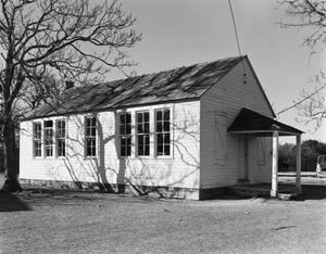 Primary view of object titled '[Rheingold School House, (Southeast oblique)]'.