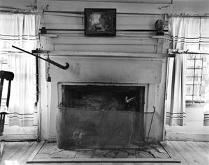 Primary view of object titled '[Collin McKinney Cabin, (Interior fireplace)]'.