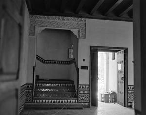 Primary view of object titled '[Sewell House, (Entrance hall, East wall)]'.