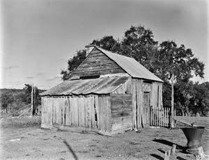 Primary view of object titled '[Valtin Furhrmann Homestead, (Southwest oblique of Blacksmith shop)]'.