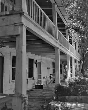 Primary view of object titled '[Stagecoach Inn, (Porch oblique)]'.