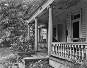 Primary view of object titled '[Whaley Residence, (Detail of East porch)]'.