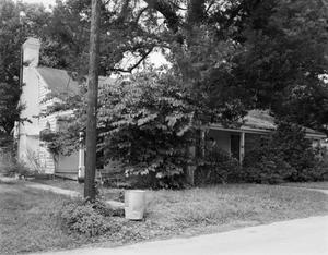 Primary view of object titled '[Johnson Derk House, (Southwest oblique)]'.