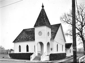 Primary view of object titled '[Simonton Community Church, (Southwest oblique)]'.