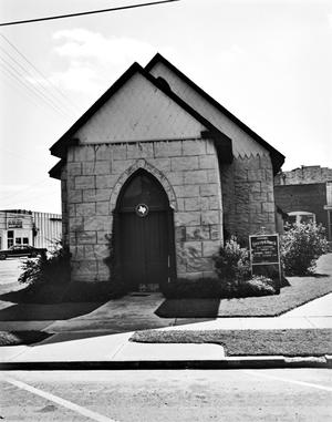 Primary view of object titled '[Emmanuel Episcopal Church, (Front elevation)]'.