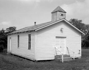 Primary view of object titled '[Mount Olive United Methodist Church, (Southeast oblique)]'.