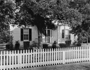 Primary view of object titled '[Hutchins House, (West facade)]'.