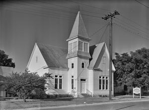 Primary view of object titled '[First Presbyterian Church, (Southeast oblique)]'.