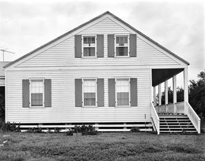 Primary view of object titled '[Greek Revival Cottage, (South elevation (Street elevation))]'.