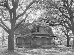 Primary view of object titled '[Adams House, (West facade)]'.
