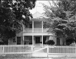 Primary view of object titled '[Boggess House, (West elevation)]'.