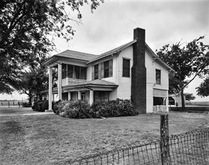 Primary view of object titled '[Isaac Graves House, (Northeast oblique)]'.