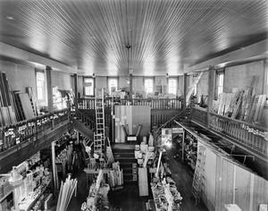 Primary view of object titled '[Bertram Lumber Company Store, (Interior view)]'.