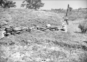 Primary view of object titled '[Mayfield Dugout, (South side detail)]'.