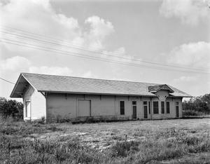 Primary view of object titled '[Old Hitchcock Depot, (Northeast oblique)]'.