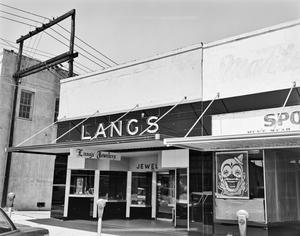 Primary view of object titled '[Lang's Jewelry Store]'.
