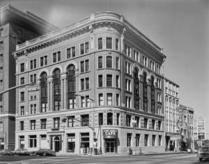Primary view of object titled '[Commercial Bank Building and Dorrance Building]'.