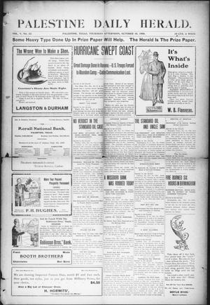 Primary view of object titled 'Palestine Daily Herald (Palestine, Tex), Vol. 5, No. 82, Ed. 1, Thursday, October 18, 1906'.