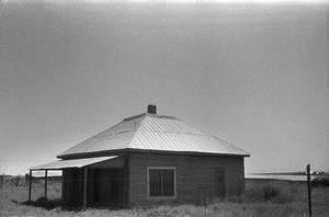 Primary view of [Clarendon, (Last building of old Clarendon, moved from original townsite to Bugbee Ranch to serve as studio of H.D. Bugbee)]