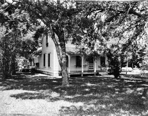 Primary view of object titled '[Sherrill House on Chocolate Bayou, (Southwest oblique)]'.