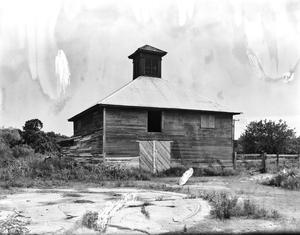 Primary view of object titled '[Barn for Lakeside Sugar Refinery, (Northwest oblique)]'.