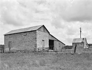 Primary view of object titled '[Borcher-Crouch House, (Northwest oblique of barn)]'.