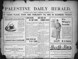 Primary view of object titled 'Palestine Daily Herald (Palestine, Tex), Vol. 5, No. 95, Ed. 1, Friday, November 2, 1906'.