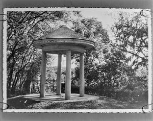 Primary view of object titled '[Laguna Gloria Pagoda]'.