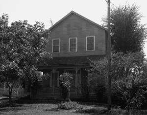 Primary view of object titled '[2 Story Grey House, (North elevation)]'.