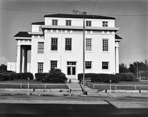 Primary view of object titled '[Cass County Courthouse, (West elevation)]'.