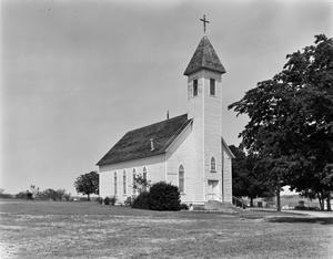 Primary view of object titled '[Saint John's Lutheran Church, (Oblique)]'.