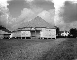 Primary view of object titled '[Katolicka Jednota Texaska Dance Hall, (South elevation)]'.