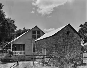 Primary view of object titled '[John Scheel House, (Northeast oblique)]'.