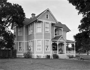 Primary view of object titled '[Jack Calk House, (Southwest oblique)]'.