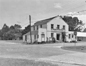 Primary view of object titled '[Round Top General Store, (East oblique)]'.