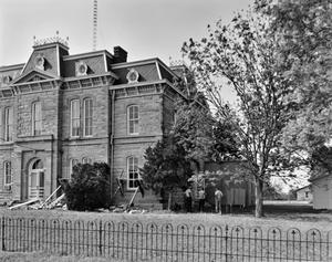 Primary view of object titled '[Concho County Courthouse, (Southeast oblique)]'.