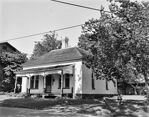 Primary view of [House, (South (side) and East (rear) elevation, Camera facing Northwest)]