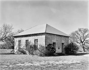 Primary view of object titled '[Crownover Chapel, (Southeast oblique)]'.